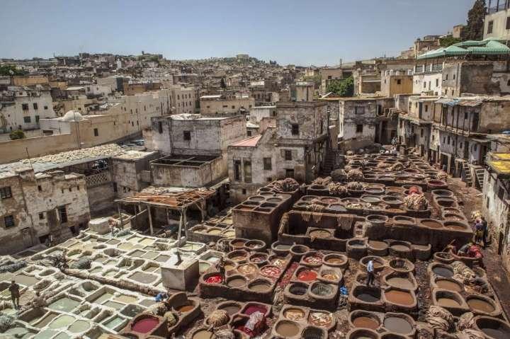 morocco Tourism-fes-tannery-landscape-credit-g-adventures