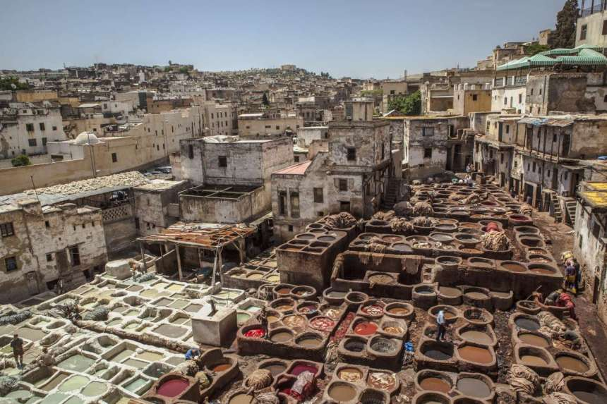 morocco Tourism-fes-tannery-landscape-credit-g-adventures